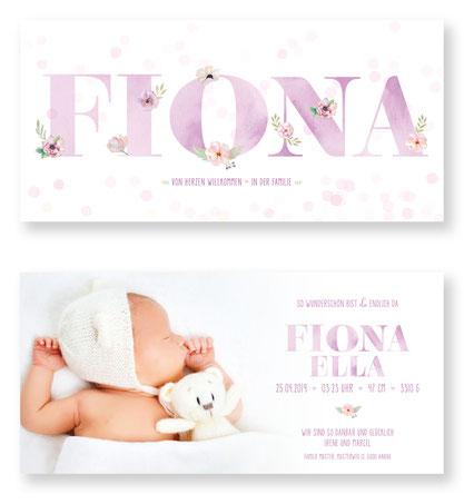 Geburtskarte. Geburtsanzeige. Schweiz. Babykarte zur Geburt. kartendings.ch