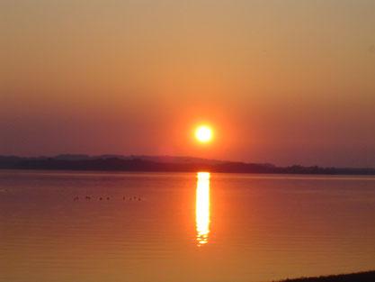 Sonnenuntergang am Chiemsee  2007
