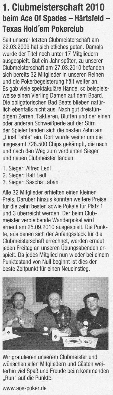 Neresheimer Nachrichtenblatt vom 31.03.2010