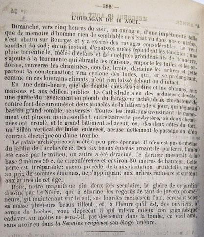 Source : Semaine Religieuse du Berry de 1895