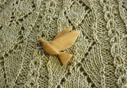 鳩のブローチ Pigeon Brooch