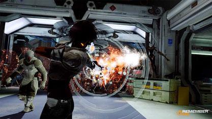 OBEN: Nach den ersten Spielstunden erhält Nilin Schuss- und Telekinese-artige Manöver, die sich mitunter auch im Kampf einsetzen lassen.
