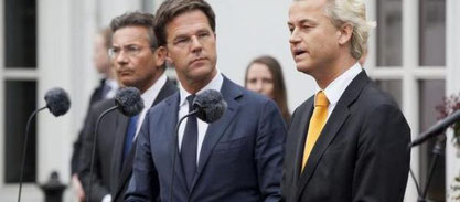 Mark Rutte e Geert Wilders