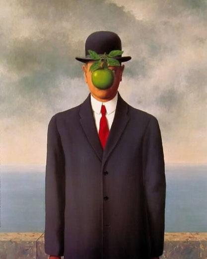 Самые известные картины в мире. Сын человеческий - Рене Магритт (1964)
