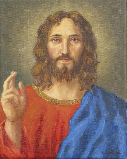 Tony Wahlander (Wåhlander) Jésus Salvator Mundi, Jésus sauveur du monde