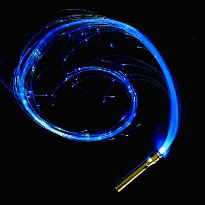 Weihnachtsgeschenk für Jugendliche, Erwachsene, Party, Fiberoptic Whip, LED Peitsche, LED Schlange, Fiberglas
