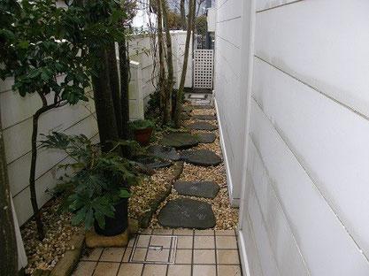 造園 庭 飛び石