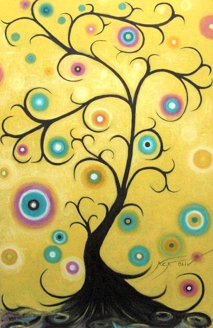 El árbol de los deseos - 60 x 92 cm al óleo sobre lienzo.