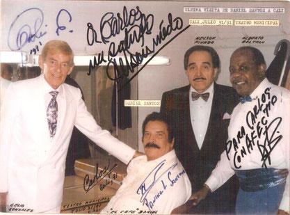 Daniel Santos y amigos, última visita a Cali, julio 31 de 1991.