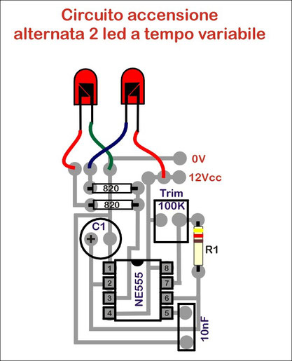 Schema Elettrico Per Lampeggio Led : Qualche schema con ne benvenuti su officinahf