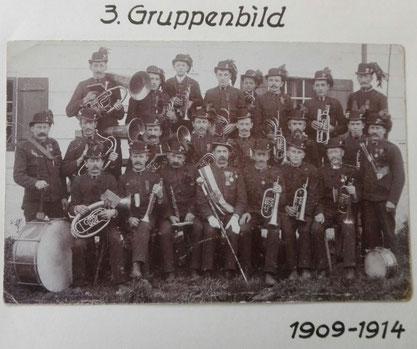 3.Gruppenbild 1909 - 1914 TMK Pöndorf