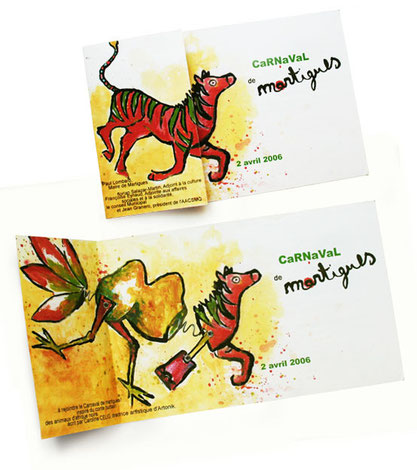 illustration et graphisme de l'invitation au carnaval de Martigues