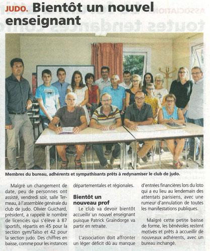 Article des Alpes Mancelles du 09/09/2016