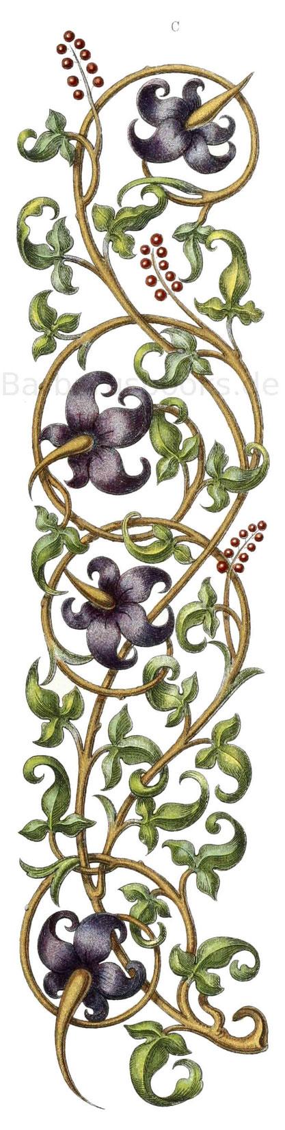 Ornamente aus dem Übergang des 15. in das 16. Jahrhundert.
