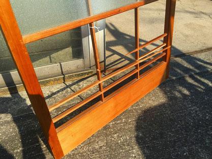 破損したガラス障子の組子