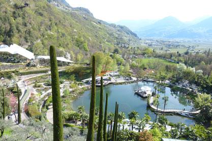 gärten von schloss trauttmansdorff bei meran nähe dorf tirol