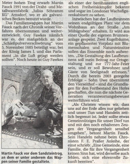 Bild: Seeligstadt Fauck Chronik 2005