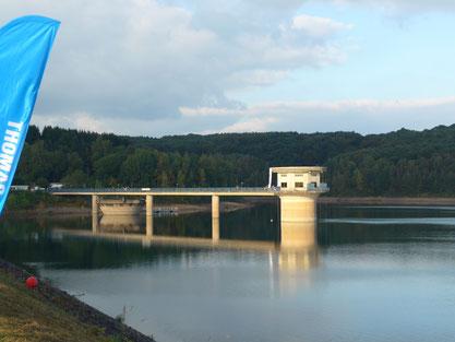 Blick vom Staudamm auf die große Dhünntalsperre(Foto privat)
