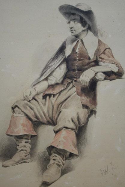 te_koop_aangeboden_een_kunstwerk_van_willem_pieter_hoevenaar_1808-1863_hollandse_romantiek
