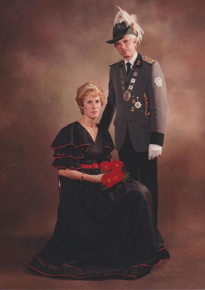 Kaiserpaar Peter Goch und Brigitte Werner 1983-1984