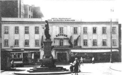"""Das Gasthaus """"Zum Goldenen Hirschen"""", Alserstraße 33, zur Zeit Max Webers (der 2. Stock dürfte später dazu gekommen sein). Später war hier das Institut für Soziologie untergebracht"""