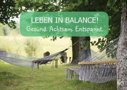 """Meine Anti-Stress-Kurse richten sich nach meinem Leitsatz """"Leben in Balance. Gesund. Achtsam. Entspannt."""""""