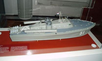 """""""TM 51"""" als 1:50-Modell im Marinemuseum Den Helder - Bild: Volker Groth"""