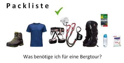 Packliste, Wandertour, Bergtour