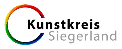 Logo Kunstkreis Siegerland , farbiger Kreis, Schriftzug