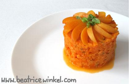 Beatrice Winkel - orange vegetable tower