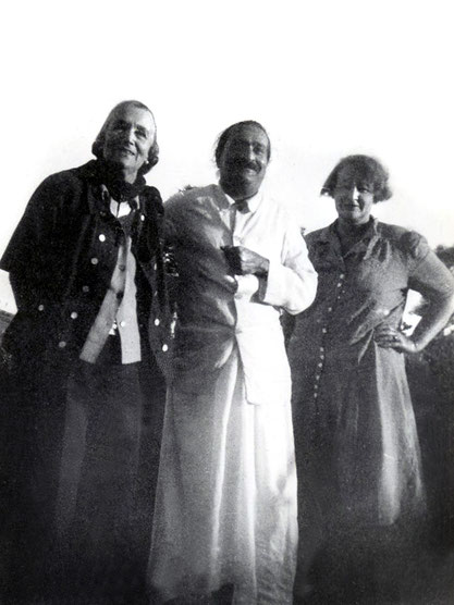 Norina with Meher Baba and Elizabeth Patterson, 1947-'48 ; Photo courtesy of Charles Haynes