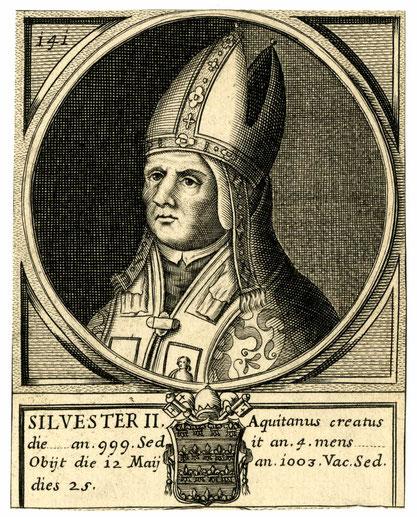 Porträt Silvester II. aus dem Jahr 1675