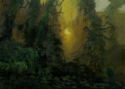 """Martin Guido Becker """"Waldstück"""" 2011, Öl/Lwd, 50/70 cm"""