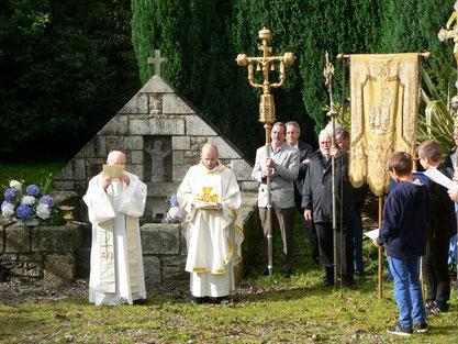Temps de prière devant la fontaine du Christ