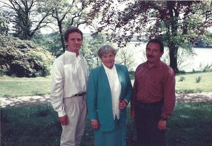 v.l.: Joachim Hellmich, Jutta Reinhold, Manfred Riechert, 16.05.1992