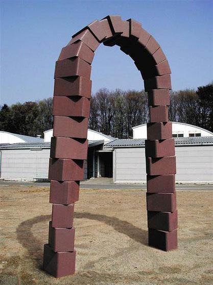 二つの螺旋  -  風門 <No.A-07>  / 2002 / cor-ten steel / H.245x180x80cm