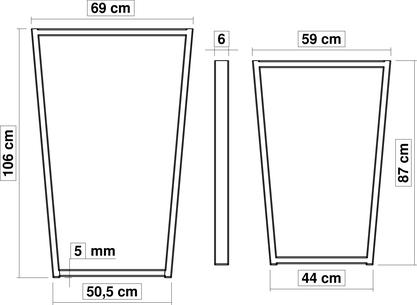 Dimensions pied de table haute TrapYa