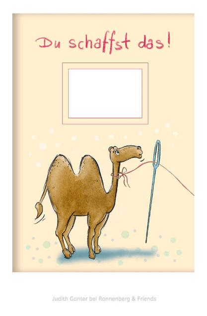 Du schaffst das! Kamel durchs Nadelöhr - Illustration & Text Judith Ganter, Hamburg - Verlag Rannenberg & Friends, Kladden, Notizhefte