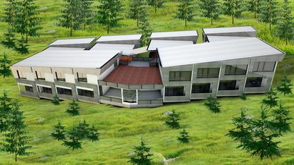 建設中の新校舎の紹介