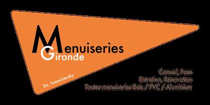 Logo menuiseries gironde Bois PVC Aluminium Serrurerie Vitrerie Bordeaux