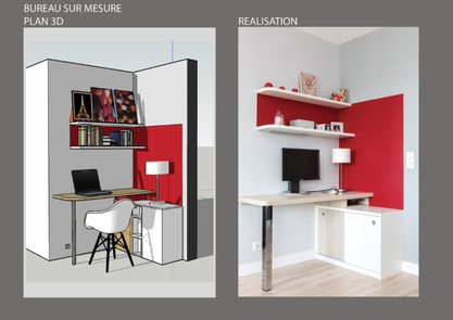 bureau sur mesure, création de meubles sur mesure, sur mesure, espace bureau, optimisation des espaces, bureau, rangement sur mesure,