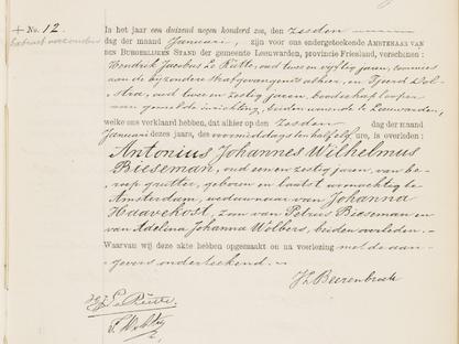 Overlijdensregister 1906,Bijzondere Strafgevangenis van Leeuwarden