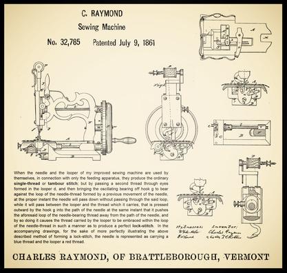 U.S. Patent  32.785  - July 9, 1861