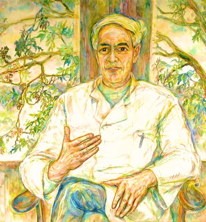 Bettina Heinen-Ayech (1937-2020): Portrait von Herrn Professor Harmen van Lessen, 1984