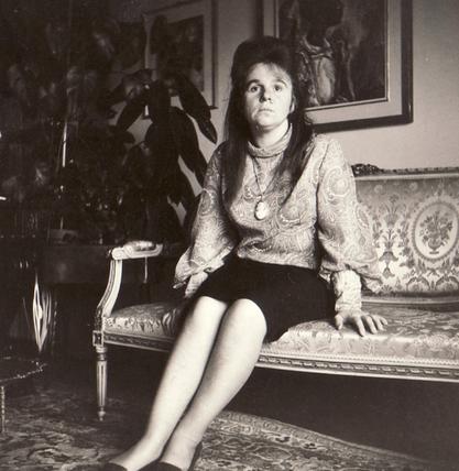 Bettina avec le collectionneur d'art Eduard M. Fallet von Kastelberg, 1964