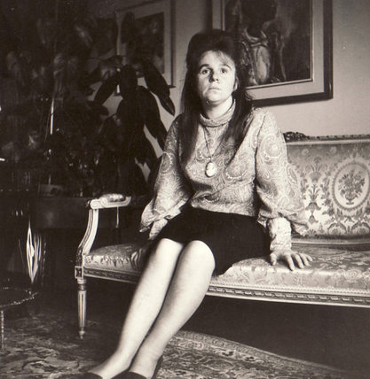 Bettina with the art collector Eduard M. Fallet von Kastelberg, 1964