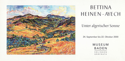 Invitation card Museum Baden, 2000