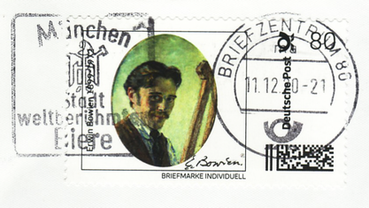 Erwin Bowien (1899-1972) - canceled postage stamp