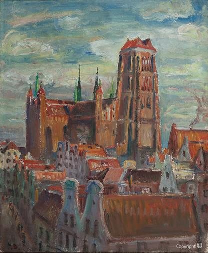 Erwin Bowien ( 1899-1972): City vedute of Danzig, 1923
