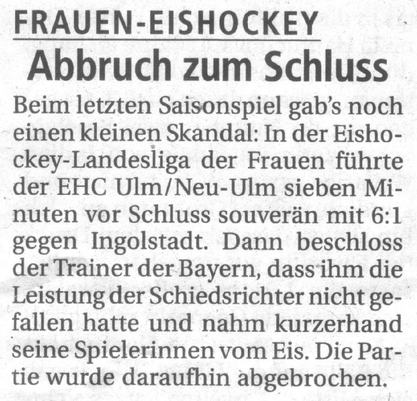 Spielabbruch ERC Ingolstadt vs. EHC Ulm / Neu-Ulm